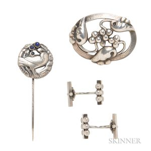 Group of Sterling Silver Jewelry, Georg Jensen