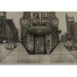 Bruce McCombs (American, b. 1943)      Street Corner