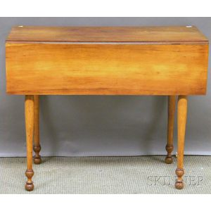 Federal Maple Drop-leaf Pembroke Table.
