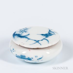 Blue and White Seal Paste Box and Cover