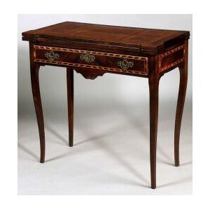 Continental Neoclassical Crossbanded Kingwood Game Table