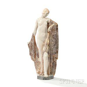 "George Marcel Renard (1899-1974) ""La Soie"" Sculpture"