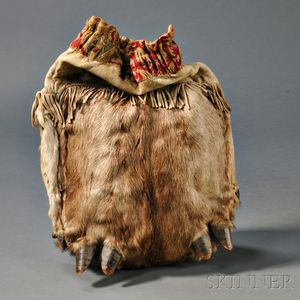 Blackfoot Elk Skin Work Bag