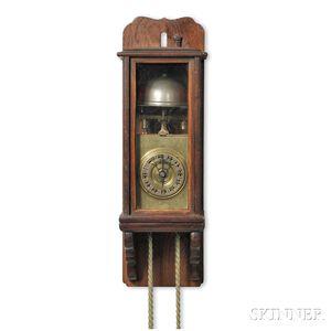 Miniature Japanese Lantern Clock and Wall Bracket
