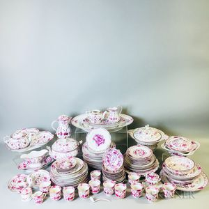 "Large Group of ""Oriental Flower"" Porcelain"