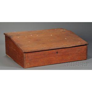 Shaker Pine Red-washed Tabletop Desk