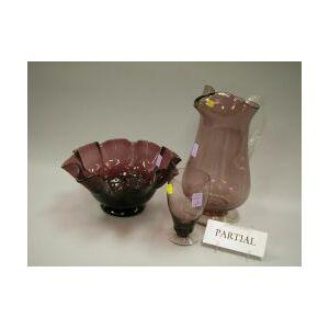 Ten Pieces of Amethyst Art Glass