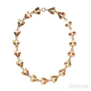 Retro 14kt Bicolor Gold Necklace, Tiffany & Co.