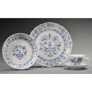 Group of Meissen Porcelain Blue Onion Tableware
