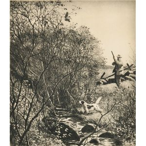 Aiden Lassell Ripley (American, 1896-1969)      Two Shooting Scenes:  After Woodcock