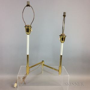 Swing-arm Brass Table Lamp