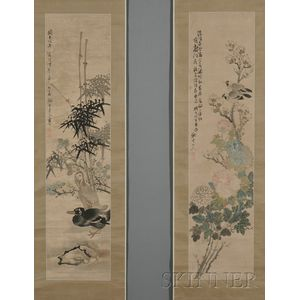 Set of Three Hanging Scrolls