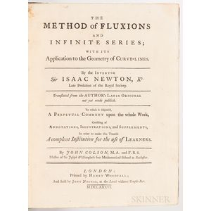 Newton, Sir Isaac (1643-1727) The Method of Fluxions and Infinite Series; with its Application to the Geometry of Curve-Lines.