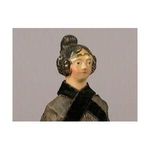 Small Papier-mache Shoulder Head Doll with Apollo Knot