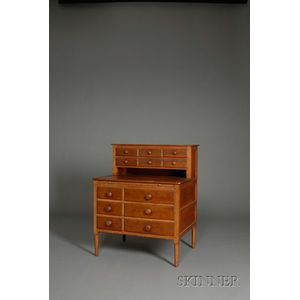 Shaker Pine and Birch Sewing Desk