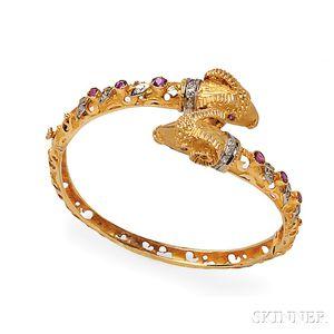 18kt Gold Gem-set Bracelet