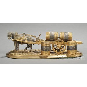 Bronze Model of a Horse and Cart