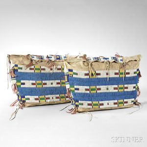 Pair of Cheyenne Matched Beaded Hide Possible Bags