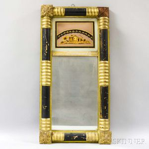 Federal Carved and Gilt Split-baluster Tabernacle Mirror