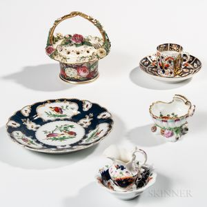 Five Porcelain Table Items