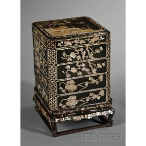 Lacquered and Mother-of-Pearl Inlaid Box
