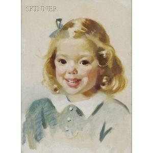 Jean MacLane (American, 1878-1964)      Portrait of Margaret Ann Worthington, the Artist