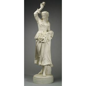 Large Parian Figure of a Flower Seller