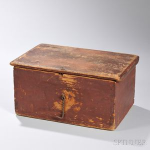 Red-painted Pine Box