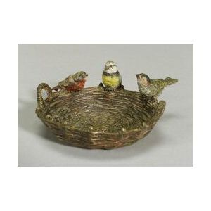 Austrian Cold Painted Figure of Birds on a Basket