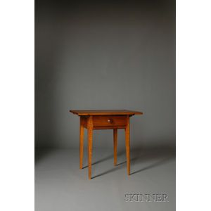 Shaker Walnut and Tiger Maple Table