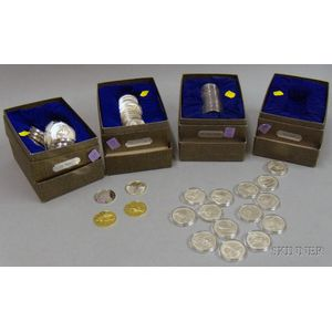 Approximately Sixty Sterling Silver Commemorative Coins