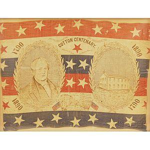 Framed Slater Mill Centennial Commemorative Flag