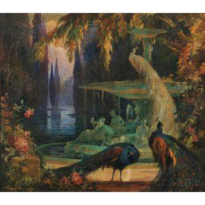Vladimir Pavlosky (American, 1884-1944)      The Green Fountain