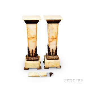 Pair of Ormolu-mounted Marble Pedestals