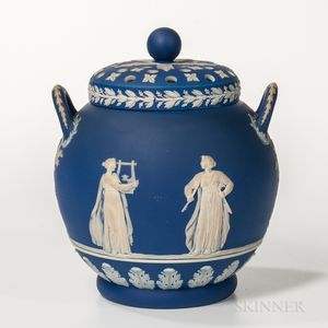 Wedgwood Dark Blue Jasper Dip Potpourri and Covers