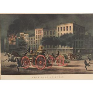 Currier & Ives, publishers (American, 1857-1907)  THE LIFE OF A FIREMAN.  THE METROPOLITAN SYSTEM.