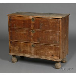 Pine Chest over Drawer