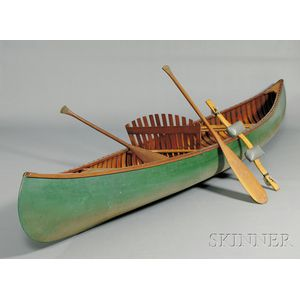 Old Town Wood and Canvas Canoe