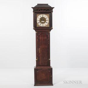 Mahogany and Oak English Longcase Clock