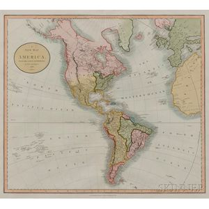 North and South America. John Cary (c. 1754-1835) A New Map of America