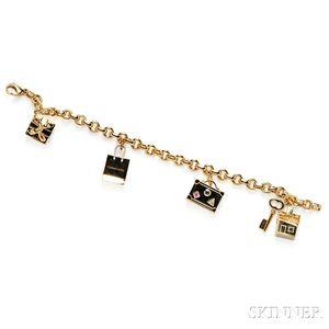 18kt Gold Charm Bracelet, Tiffany & Co.