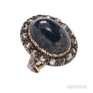 Georgian Revival Lapis and Diamond Ring
