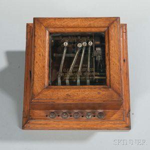 Oak-cased Circuit Breaker