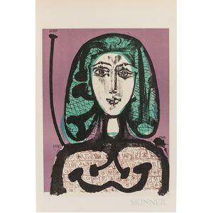 Picasso, Pablo (1881-1973) Lithographe III 1949-1956.