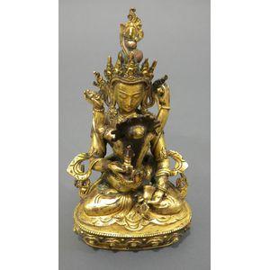 Gilt-bronze Yab-yum Group