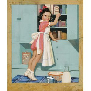 K.O. (Knute) Munson (American, 1900-1967)      Baking Time/An Illustration for Health Club Baking Powder