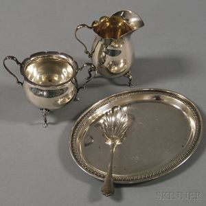 Four Small Sterling Silver Serving Items