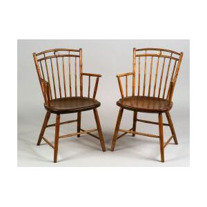Pair of Birdcage Windsor Armchairs