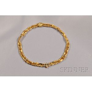 18kt Gold and Diamond Necklace, SeidenGang