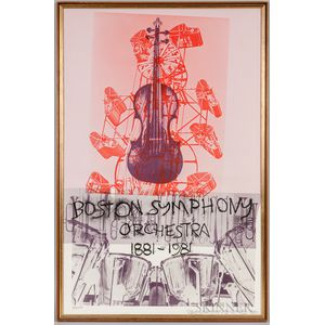 Robert Rauschenberg (American, 1925–2008)      Boston Symphony Orchestra 1881-1981  /100th Anniversary Poster